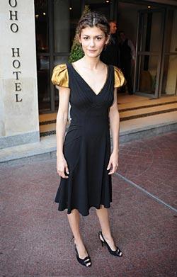 Audrey Tautou в черном платье