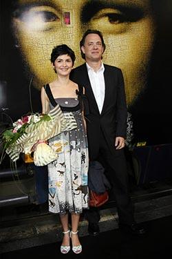 Audrey Tautou на премьере Кода да Винчи