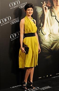 Audrey Tautou в желтом платье