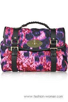 цветная сумка-почтальона от Mulberry