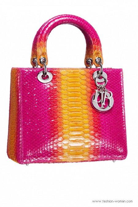 Яркая сумка от Christian Dior лето 2011