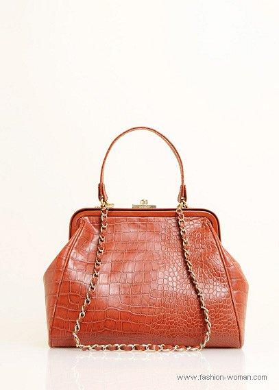оранжевая сумка от Mango