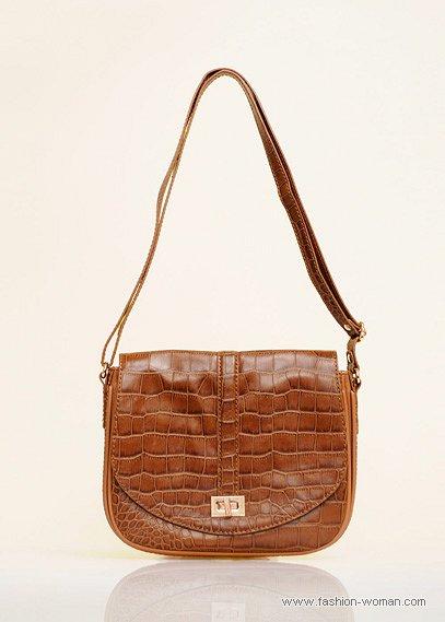 коричневая сумка Mango