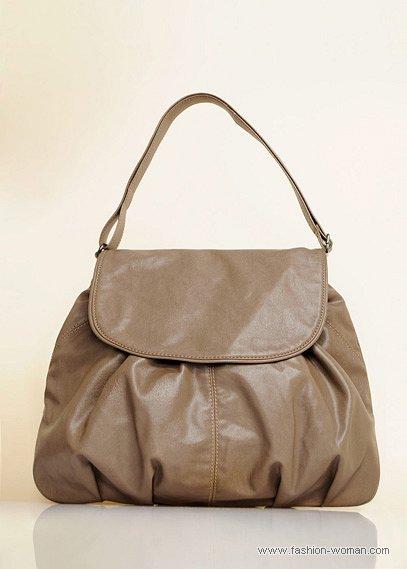 бежево-серая сумка
