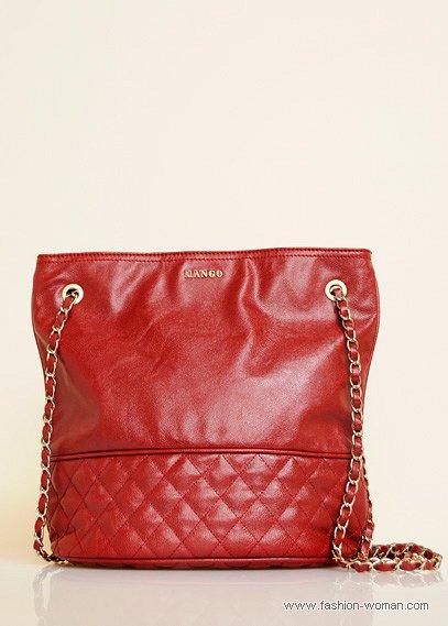 Красная сумка от Mango осень-зима 2010-2011