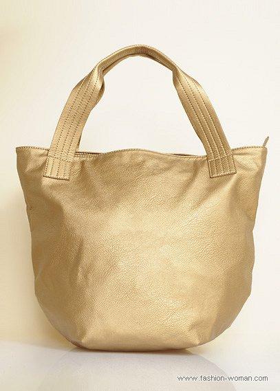 Золотистая сумка от Mango
