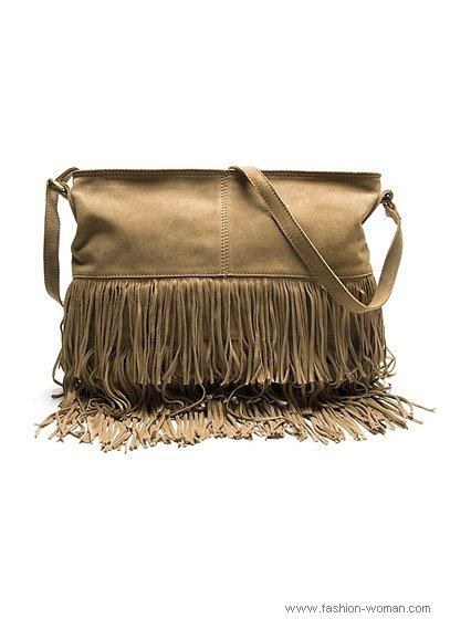 модная сумка с бахромой от Mango осень 2010