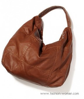 Коричневая сумка-хобо