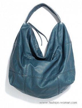 Синяя сумка-хобо