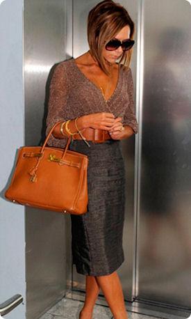 Виктория Бекхэм с сумкой от Хермес