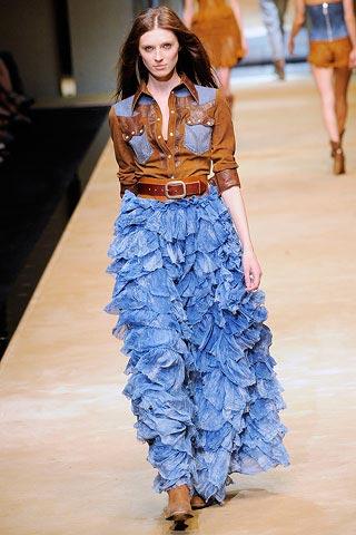 длинная юбка с оборками от D&G