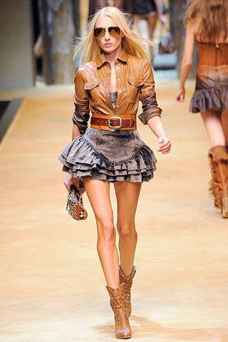 джинсовая юбка от Dolce_&_Gabbana