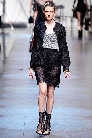 юбка из кружев от Dolce & Gabbana