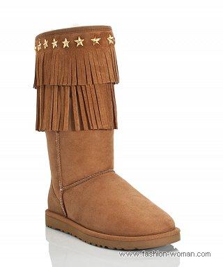 Модная зимняя обувь угги