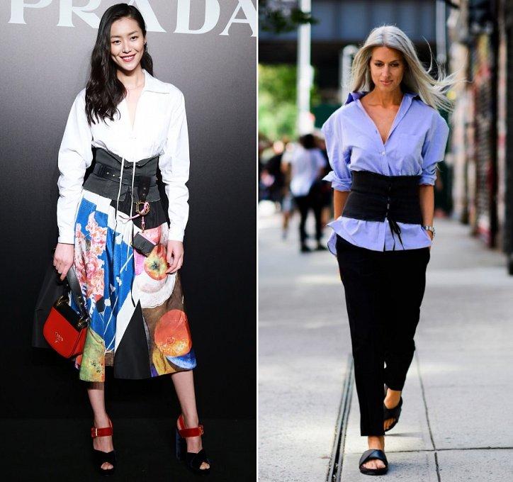 10 способов с чем носить корсетный пояс в этом сезоне фото №3
