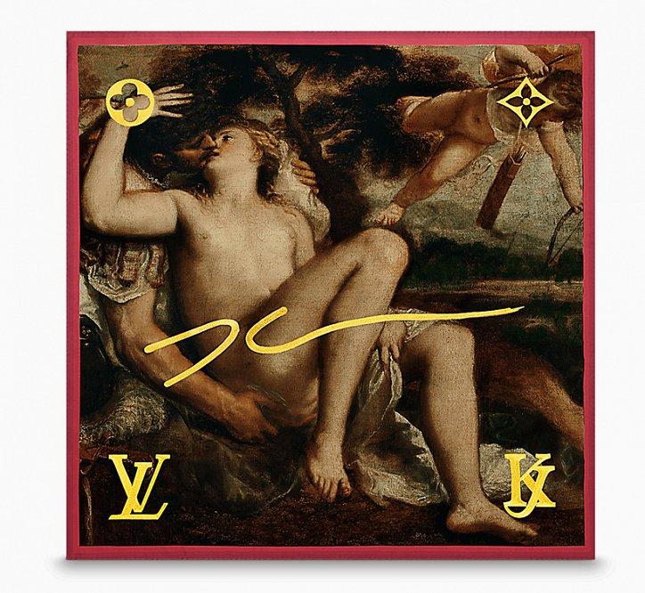 Аксессуары Louis Vuitton с принтами шедевров живописи фото №14