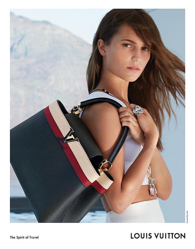 Алисия Викандер в рекламной кампании круизной коллекции Louis Vuitton фото №2