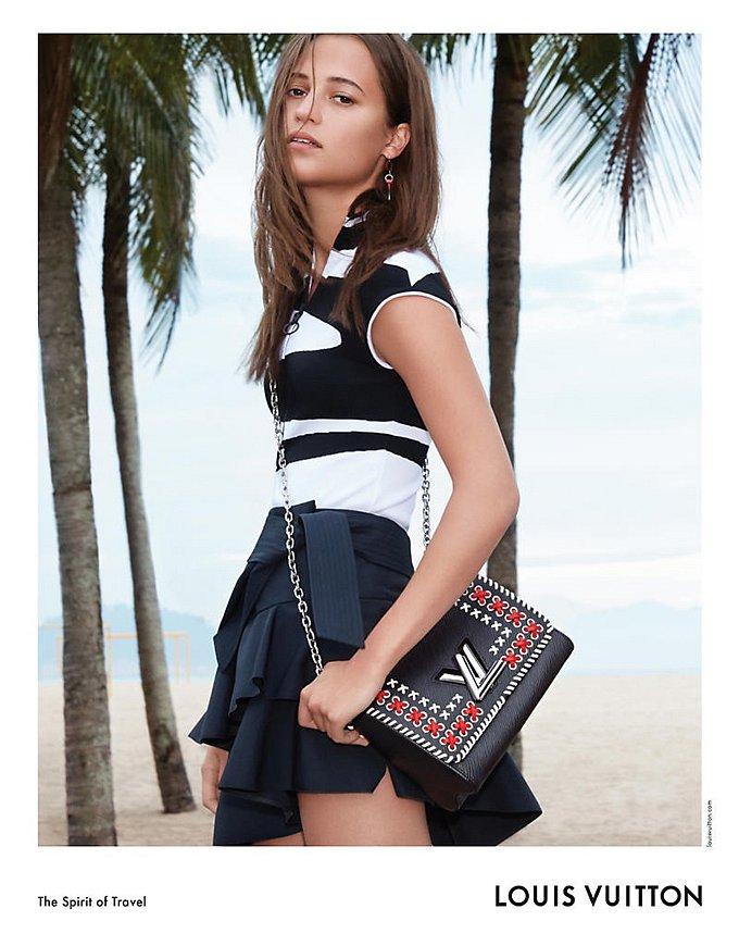 Алисия Викандер в рекламной кампании круизной коллекции Louis Vuitton фото №4
