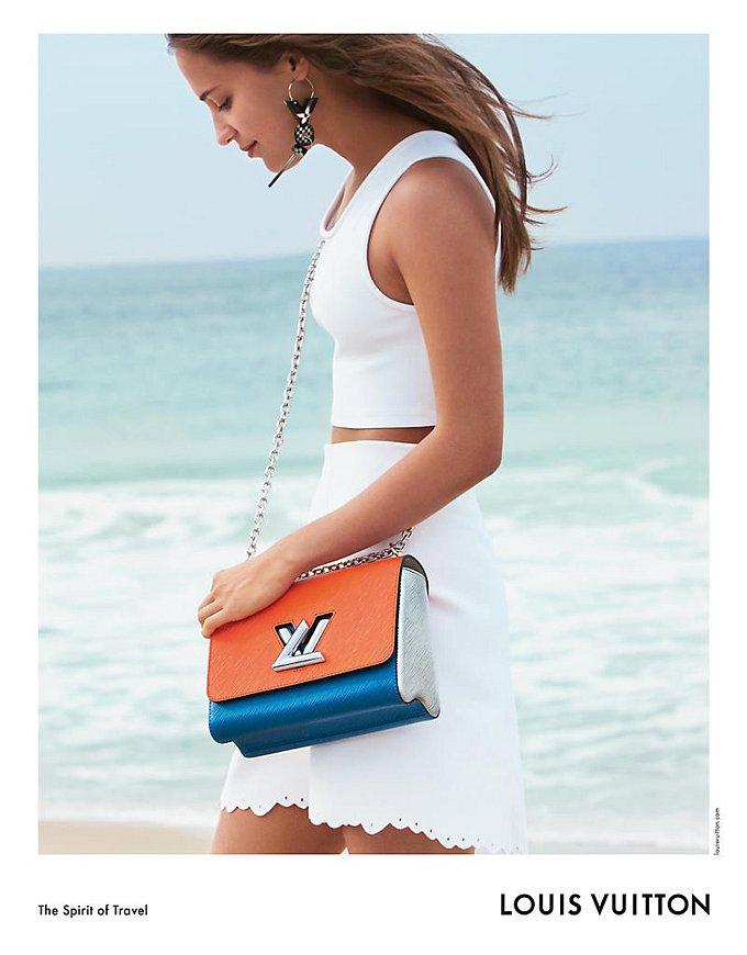 Алисия Викандер в рекламной кампании круизной коллекции Louis Vuitton фото №6
