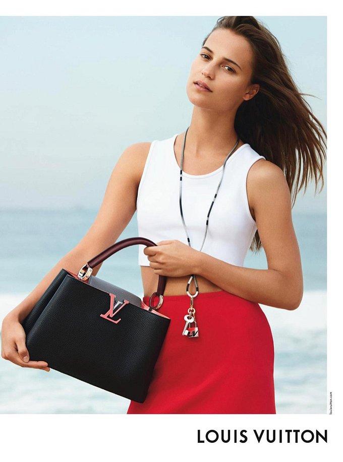 Алисия Викандер в рекламной кампании круизной коллекции Louis Vuitton фото №8