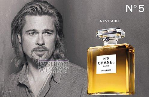 Брэд Питт в рекламе Chanel №5 фото №4