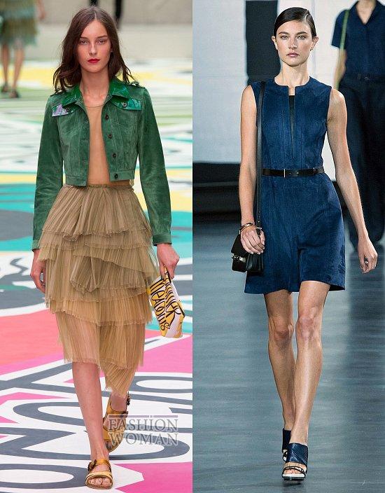 замшевая одежда цветная замша 2015