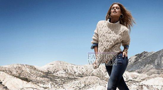 Даутцен Крус в зимнем лукбуке H&M