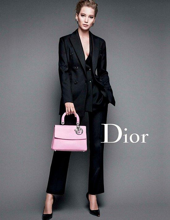 Дженнифер Лоуренс в рекламной кампании Dior осень-зима 2014-2015 фото №3
