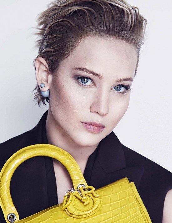 Дженнифер Лоуренс в рекламной кампании Dior осень-зима 2014-2015 фото №7