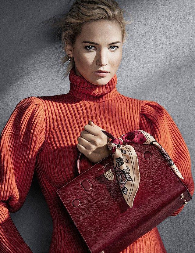 Дженнифер Лоуренс в рекламной кампании Dior осень-зима 2016-2017 фото №5