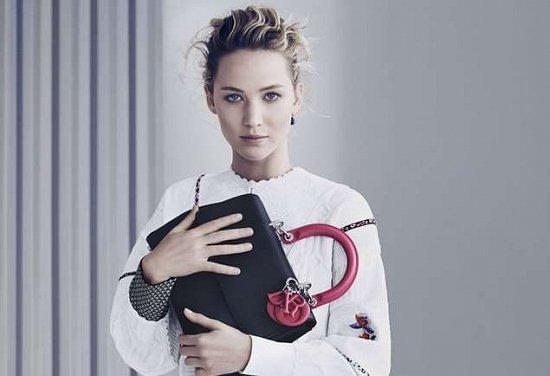 Дженнифер Лоуренс в рекламе сумок Диор
