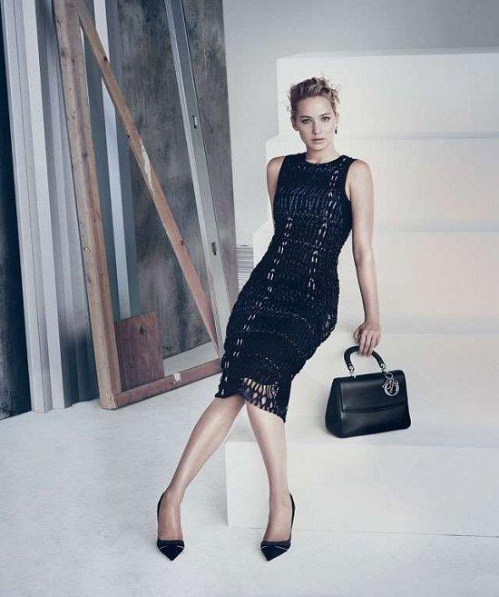 Дженнифер Лоуренс в рекламной кампании сумок Be Dior весна 2015 фото №4