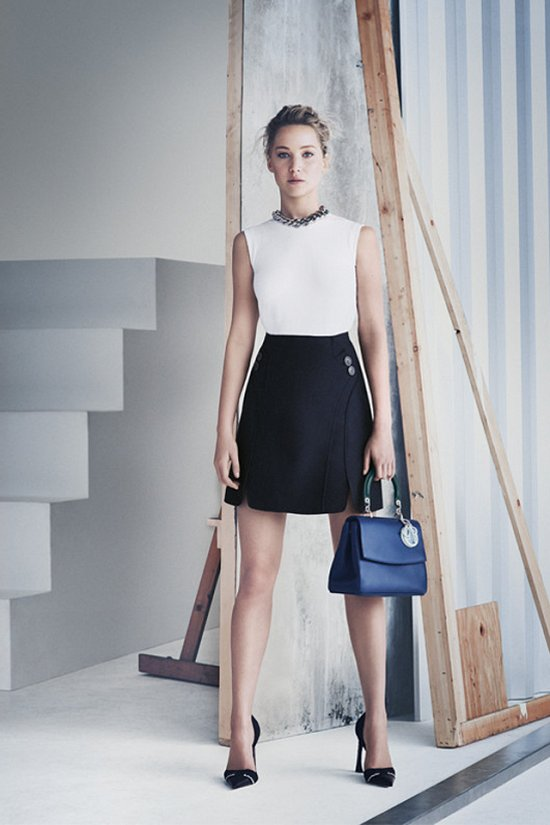 Дженнифер Лоуренс в рекламной кампании сумок Be Dior весна 2015 фото №5