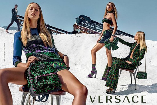Джиджи Хадид в рекламе Versace весна 2016 фото №2
