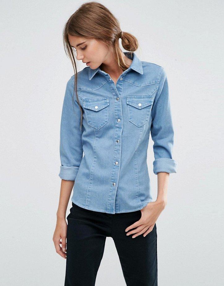 Джинсовая рубашка фото
