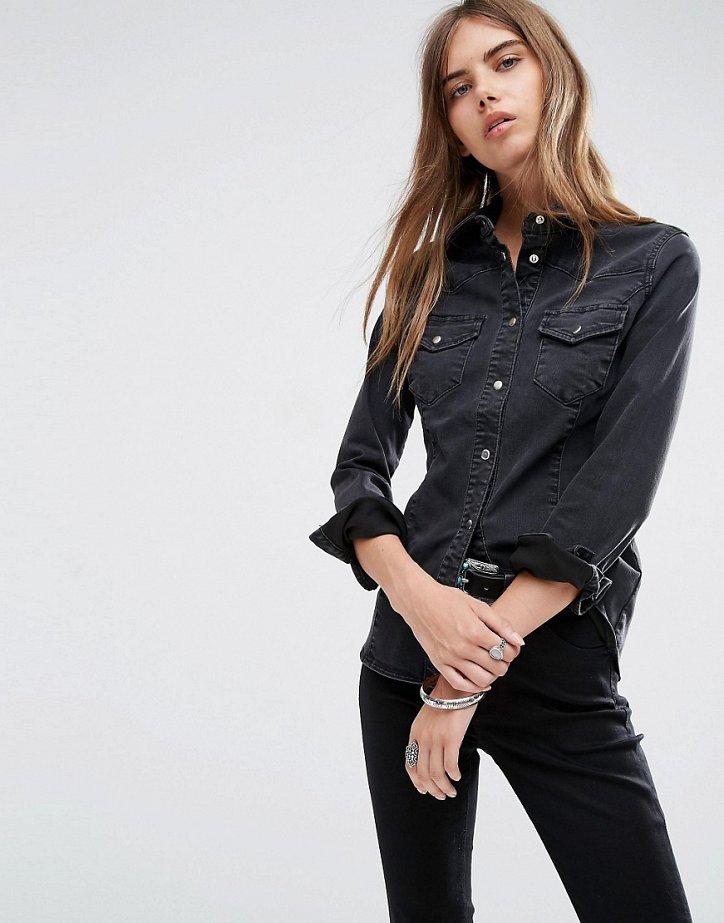 Джинсовая рубашка. С чем носить? фото №7