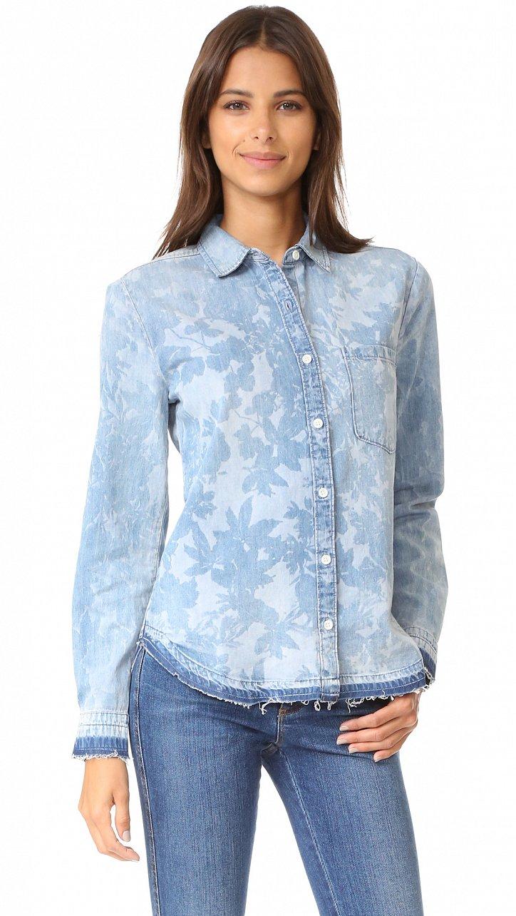 Джинсовая рубашка. С чем носить? фото №10