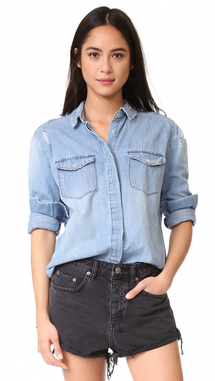 Джинсовая рубашка. С чем носить? фото №12