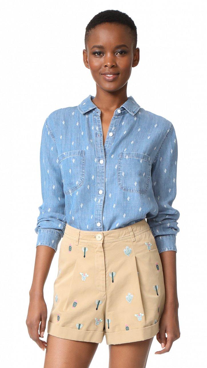 Джинсовая рубашка. С чем носить? фото №13