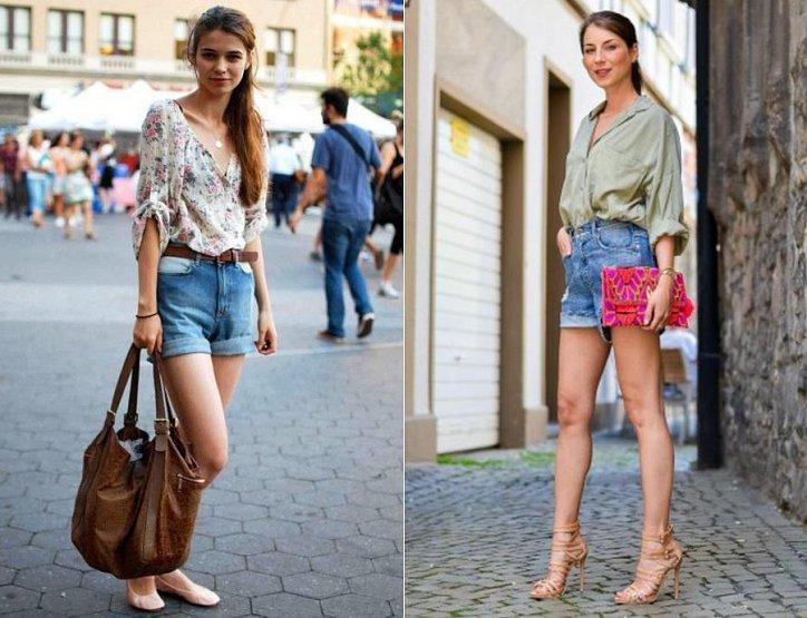 Джинсовые шорты с завышенной талией. С чем носить? фото №10