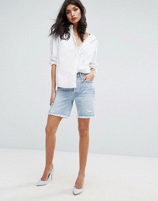 Джинсовые шорты с завышенной талией. С чем носить? фото №15