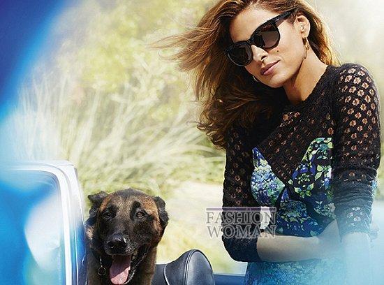 Ева Мендес в рекламе линии очков Vogue Eyewear