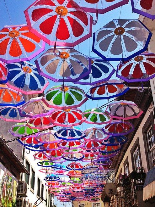 Фестиваль зонтиков в Португалии фото №2