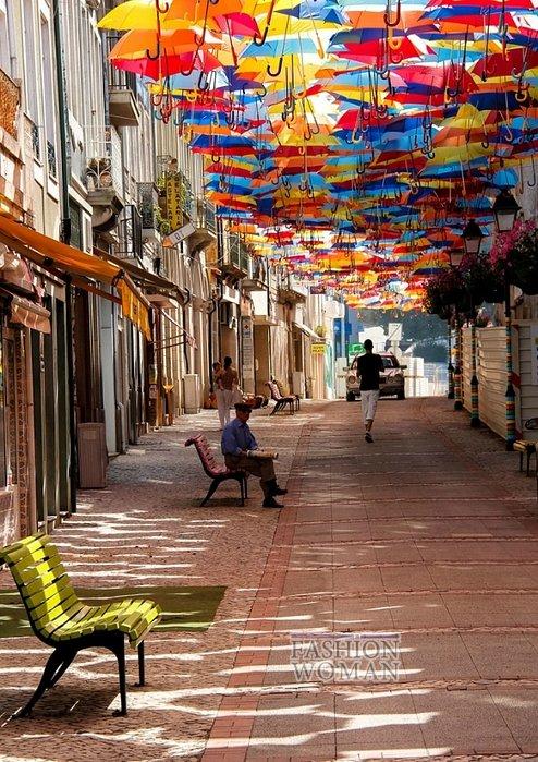 Фестиваль зонтиков в Португалии фото №3