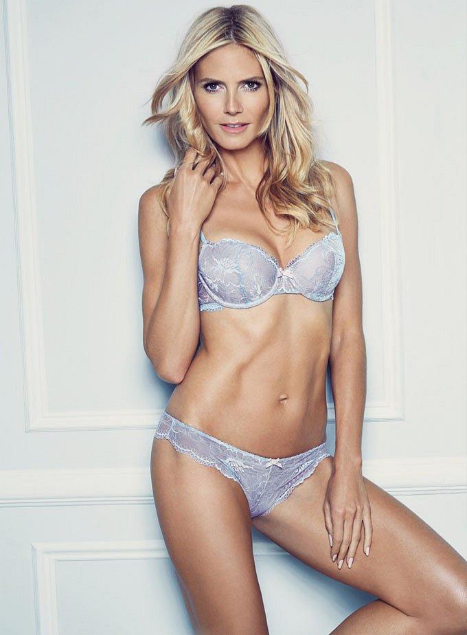 Хайди Клум в рекламе нижнего белья Heidi Klum Intimates