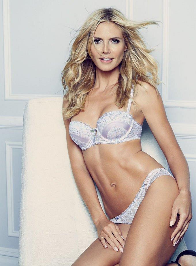 Хайди Клум в рекламе собственной линии нижнего белья Heidi Klum Intimates фото №6