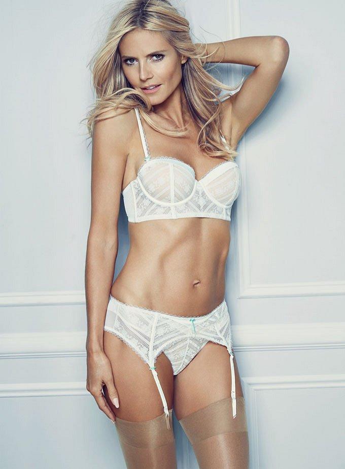 Хайди Клум в рекламе собственной линии нижнего белья Heidi Klum Intimates фото №7