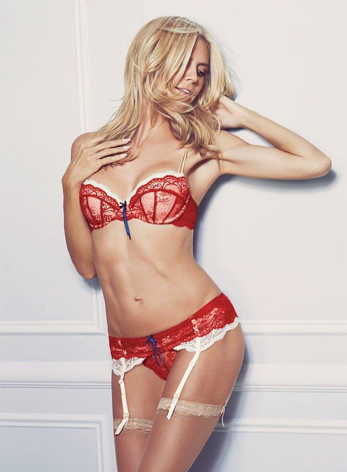Хайди Клум в рекламе собственной линии нижнего белья Heidi Klum Intimates фото №8