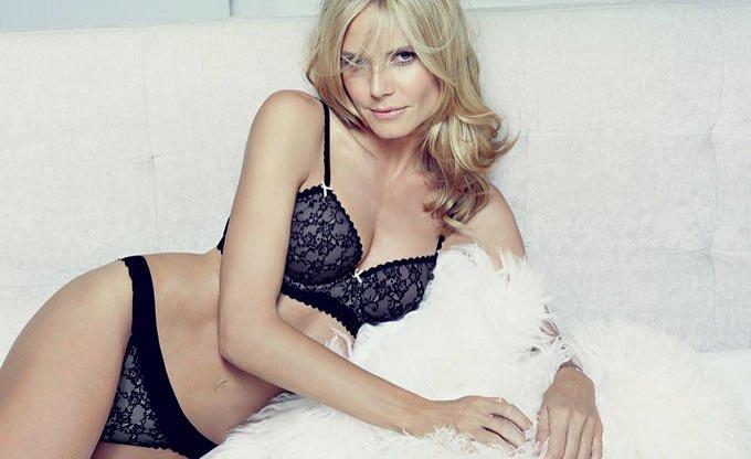 Хайди Клум в рекламе собственной линии нижнего белья Heidi Klum Intimates фото №9