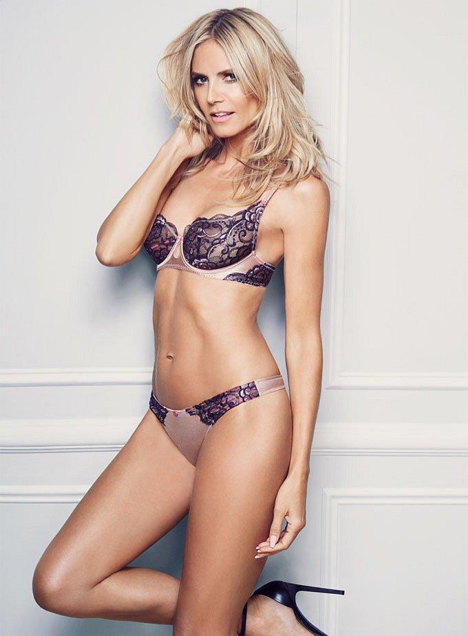 Хайди Клум в рекламе собственной линии нижнего белья Heidi Klum Intimates фото №10